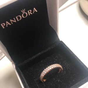 Pandora rose gold pave ring size 6 BRAND NEW